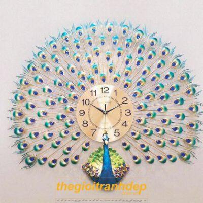 Đồng hồ treo tường con công 2