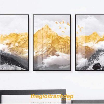 Tranh treo tường nghệ thuật vàng đen