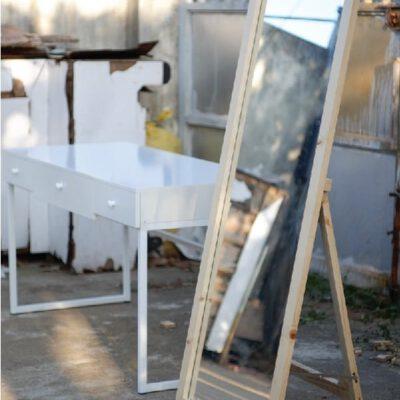 Gương soi toàn thân viền gỗ3