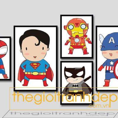 Tranh treo tường biệt đội siêu anh hùng