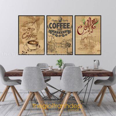 Tranh treo tường cafe cổ điển
