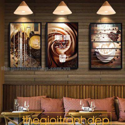 Tranh treo tường cafe đẹp