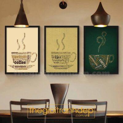 Tranh treo tường cafe nghệ thuật