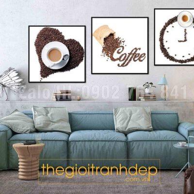Tranh treo tường cafe thời gian và tình yêu