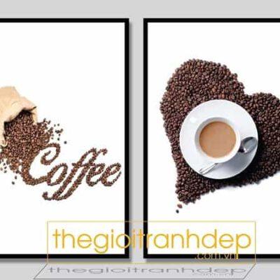 Tranh treo tường cafe và tình yêu