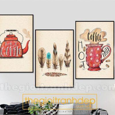 Tranh treo tường cafe vui nhộn