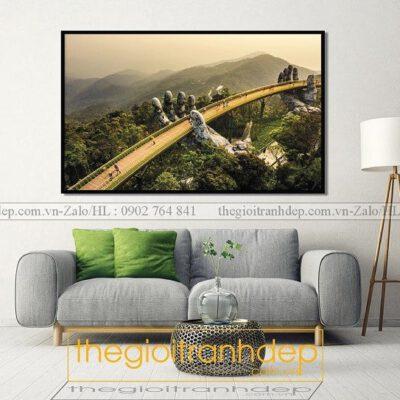 Tranh treo tường cầu vàng Đà Nẵng