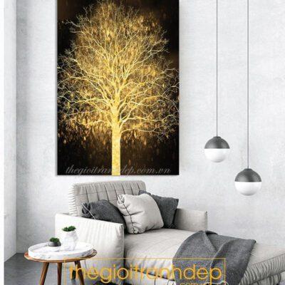 Tranh treo tường cây vàng