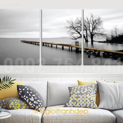 Tranh treo tường chiếc cầu và con sông