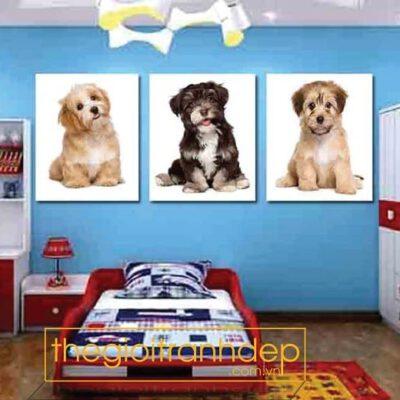 Tranh treo tường chó con