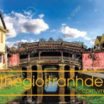 Tranh treo tường chùa cầu Hội An 2