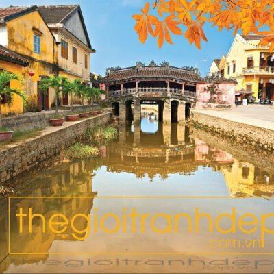 Tranh treo tường chùa cầu Hội An 5