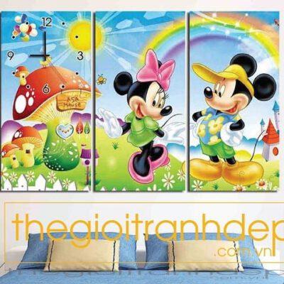Tranh treo tường chuột Micky vui nhộn