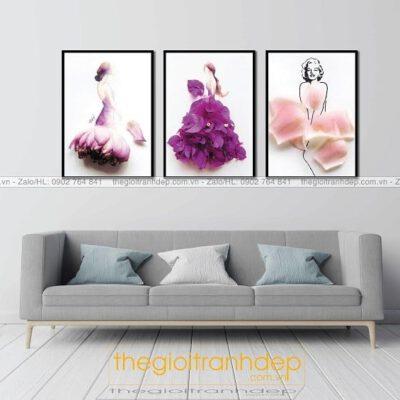Tranh treo tường công chúa hoa sen