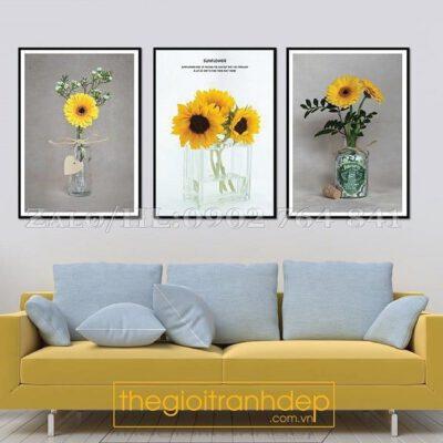 Tranh treo tường hoa cúc vàng