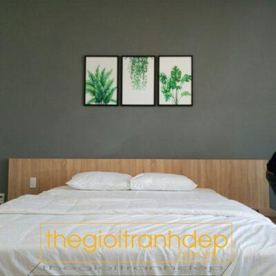 Tranh treo tường lá xanh 3