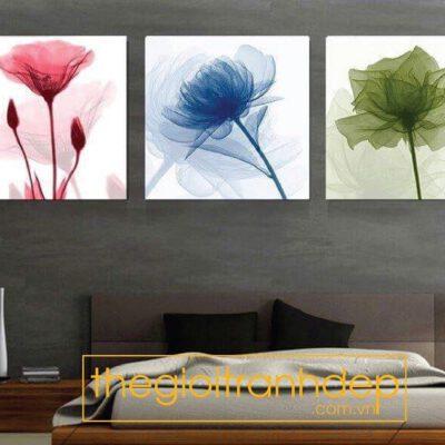 Tranh treo tường phòng ngủ chủ đề hoa 1