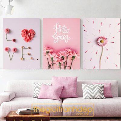 Tranh treo tường phòng ngủ hello spring