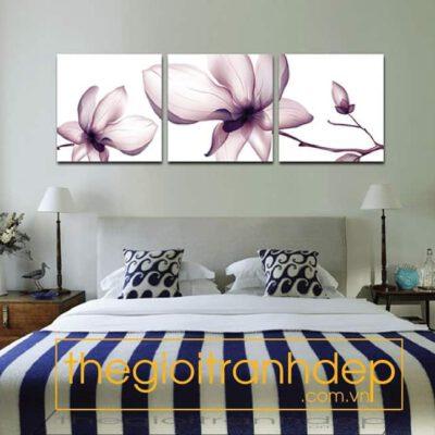 Tranh treo tường phòng ngủ hoa Mộc Lan