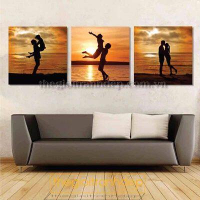 Tranh treo tường phòng ngủ romantic