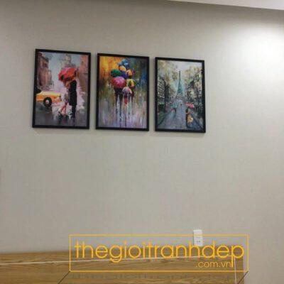 Tranh treo tường phòng ngủ sắc màu nghệ thuật