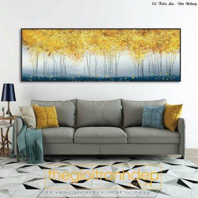 Tranh treo tường rừng cây lá vàng