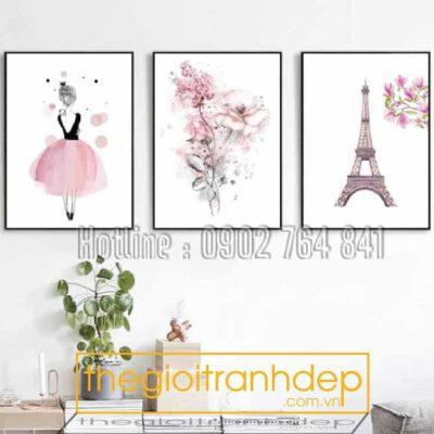 Tranh treo tường tiểu thư và Paris