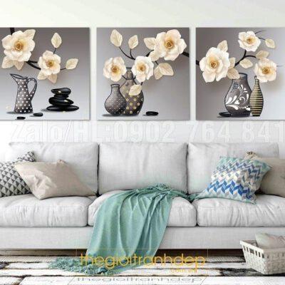 Tranh treo tường hoa sứ
