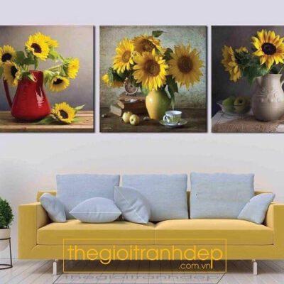 Tranh treo tường tĩnh vật và hoa cúc