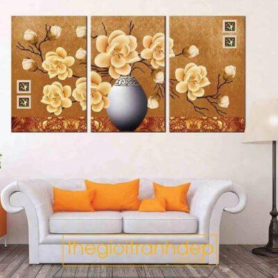 Tranh treo tường hoa Đào vàng
