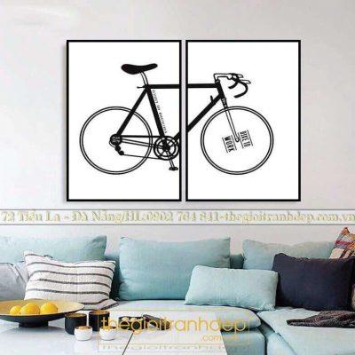 Tranh treo tường xe đạp