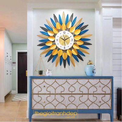 Đồng hồ treo tường nghệ thuật hoa mặt trời
