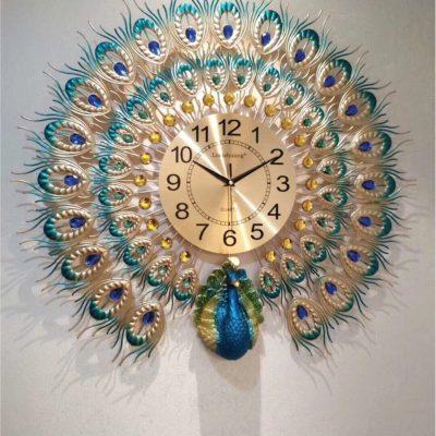 Đồng hồ treo tường chim công 4