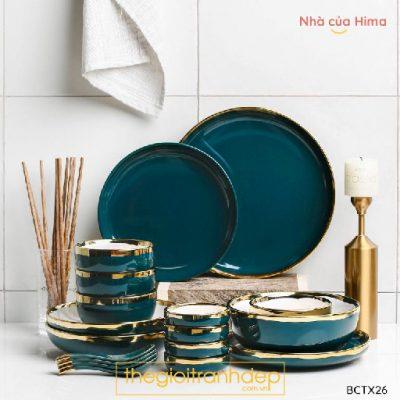 Set phòng ăn xanh ngọc