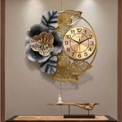 Đồng hồ treo tường hoa decor