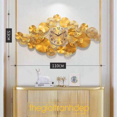 Đồng hồ treo tường hoa tròn decor