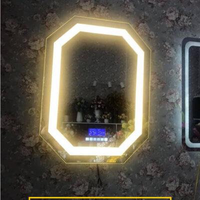 Gương đèn led bo góc treo tường