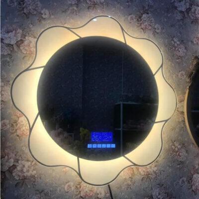 Gương đèn led hình bông hoa