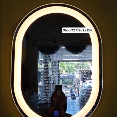 Gương đèn led hình oval