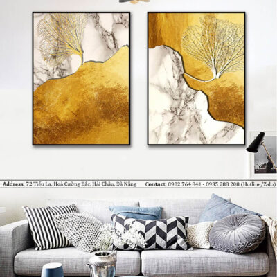Tranh treo tường canvas nghệ thuật đồi và cây