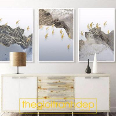 Tranh treo tường canvas nghệ thuật chim én di cư