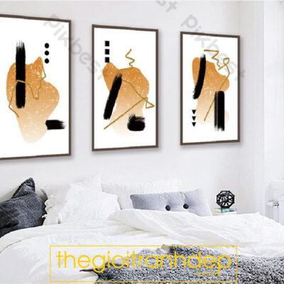 Tranh treo tường canvas nghệ thuật ba chấm