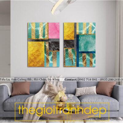 Tranh treo tường canvas nghệ thuật màu sắc