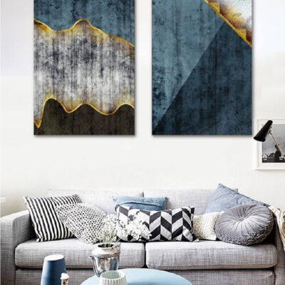 Tranh treo tường canvas nghệ thuật trừu tượng 2