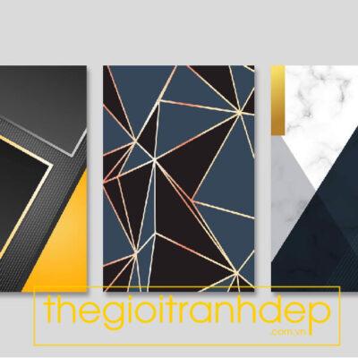 Tranh treo tường canvas nghệ thuật hình khối 3