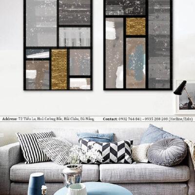 Tranh treo tường canvas nghệ thuật hình khối 6