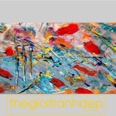 Tranh treo tường canvas nghệ thuật màu sắc 1